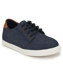 Tuskey Round Toe Lace Up Shoes - Navy Blue