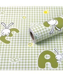 Oren Empower Happy Cartoon Decorative Wallpaper - Green White
