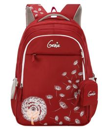 Genie Sway School Bag with Pouch Maroon - 19 Inches