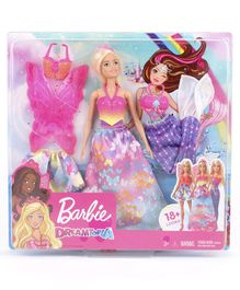 Barbie Dreamtopia Doll with Fashion Accessories Multicolor - Height 30 cm