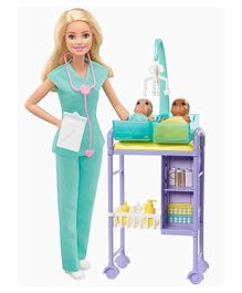 Barbie Barbie Baby Doctor Playset Pack of 11 - Blue