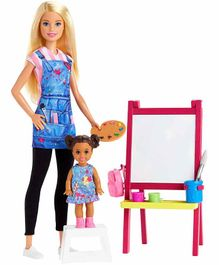 Barbie Art Teacher Doll with Furniture - Blue Pink
