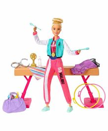 Barbie Gymnastics Playset 12 Pieces - Pink