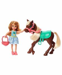 Barbie Chelsea Doll with Pony Set - Multicolor