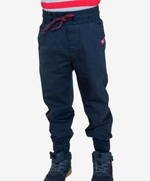 Campana Solid Full Length Joggers - Navy Blue