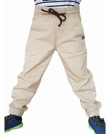 Campana Solid Full Length Joggers - Beige