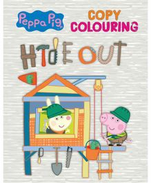 Peppa Pig Copy Colouring Hide Out - English
