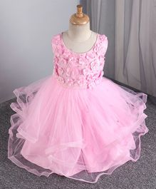 Mark & Mia 3/4th Length Frock Pearl Embellishment - Pink