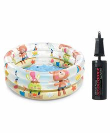 Intex Beach Buddies Baby Pool With Mini Air Pump - Multicolour