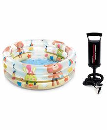 Intex Beach Buddies Baby Pool With Handy Air Pump - Multicolour