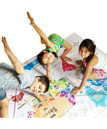Cocomoco Kids Hop Around the World - Giant World Map Twister Game