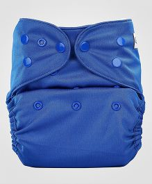 Bumberry Cloth Diaper Cover With One Bamboo Insert - Deep Blue