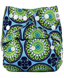 Bumberry Pocket Cloth Diaper With One Microfiber Insert - Big Round Flowers