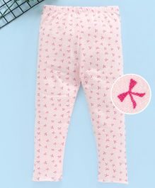 Yiyi Garden Full Length Printed Leggings - Light Pink