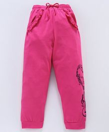 Nottie Planet Full Length Music Print Pants - Pink
