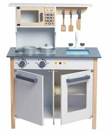Wufiy Wooden Kitchen Set with Accessories - Grey