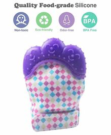 Ole Baby Silicone Mitten Teether - Purple