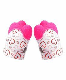 Ole Baby Silicone Mitten Teether Pack of 2 - Pink