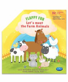 Navneet Flappy Fun Lets Meet the Farm Animals Picture Book - English