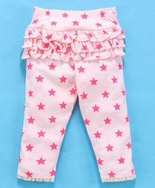 Yiyi Garden Full Length Leggings Star Print - Pink