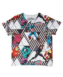Marvel By Crossroads Half Sleeves Avengers Characters Print Tee - Multi Colour