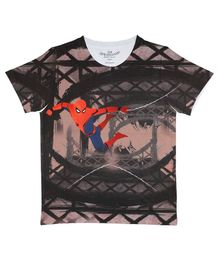 Marvel By Crossroads Half Sleeves Spider Man Character Print Tee - Multi Colour
