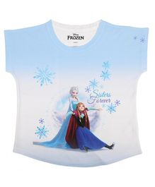 Disney By Crossroads Frozen Graphic Print Top - Blue