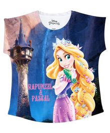 Disney By Crossroads Short Sleeves Rapunzel Princess Printed Top - Multi Colour