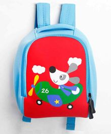 The Mom Store Flying Pup Baby Bag Blue - 10 Inches