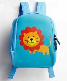 The Mom Store Baby Bag Lion Print Blue - 10 Inches