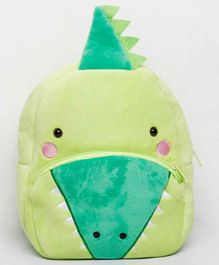 The Mom Store Plush Bag Dinosaur Face Green - 10 Inches