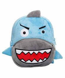 The Mom Store Shark Shaped Baby Bag Blue - 10 Inches