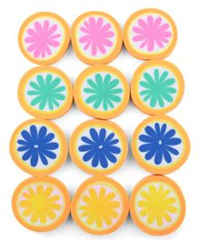 Orange Shaped Erasers Pack of 12 - Multicolour