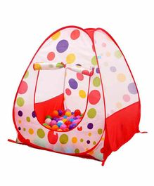 Skylofts Foldable Balls Pit Tent House - White Red
