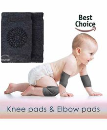 Babymoon Anti-Slip Knee and Elbow Pads - Grey