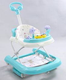 Baby Walker Cum Rocker with Music and Lights - Blue