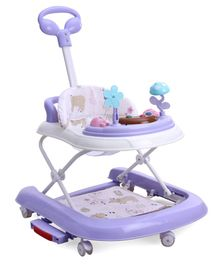 Baby Walker Cum Rocker with Music and Lights - Purple