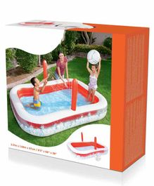 Bestway Inflatable Kids Pool With Volleyball Net - White Red