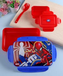 Marvel Spiderman Lock & Seal Lunch Box Blue Red - 800 ml