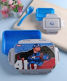 Marvel Lock & Seal Lunch Box Blue & Grey - 800 ml