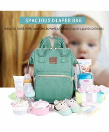 Abracadabra  Canvas Diaper Bag- Green