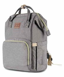 Abracadabra Canvas Diaper Bag- Grey