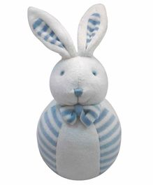 Abracadabra  Bunny Soft Toy with Rattle- Blue