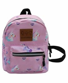 Abracadabra Unicorn Designed Back Pack Pink - 9 Inches