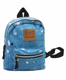 Abracadabra Polar Bear Designed Back Pack Blue - 9 Inches