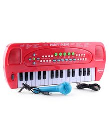 Skykidz Party Piano With Microphones - Red