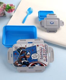Marvel Captain America Lock & Seal Lunch Box Blue & Grey - 550 ml
