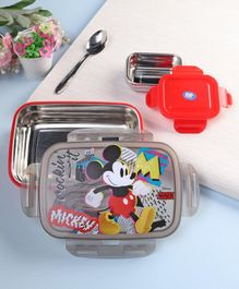 Disney Mickey Mouse and Friend Insulated Lunch Box Red Grey