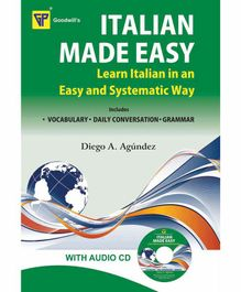 Goodwill Publishing House Italian Made Easy Book with Audio CD - English Italian
