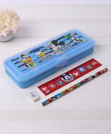 Disney Mickey Mouse Pencil Box with Pencil & Ruler - Blue